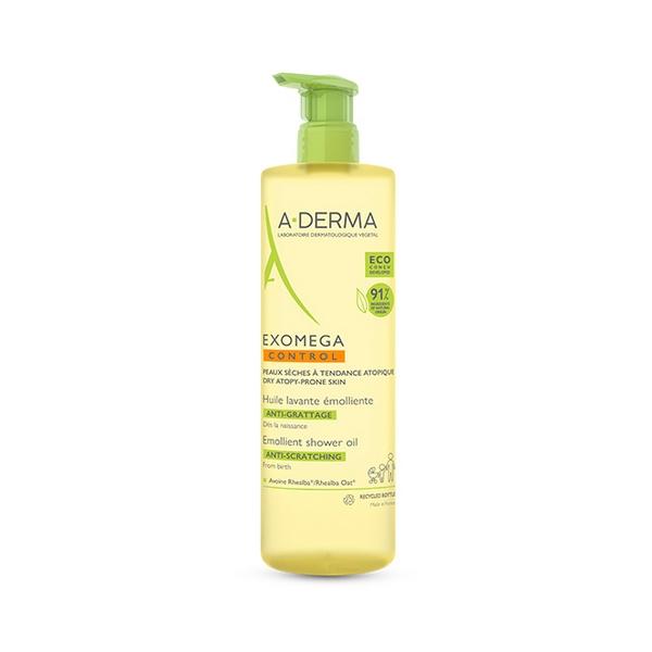 A-Derma Exomega Control Huile Lavante Emollient 750ml Καθαρισμός για Ξηρό Δέρμα ή για Δέρμα με τάση Ατοπίας