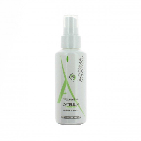 A-Derma Cytelium Drying Spray 100ml, Καταπραϋντικό Σπρέι για την ερυθρότητα του Ερεθισμένου Δέρματος