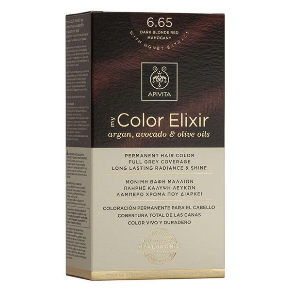 Apivita Βαφή Μαλλιών My Color Elixir Έντονο Κόκκινο/Dark Blonde Red Mahogany No 6.65