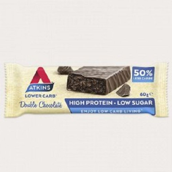 Atkins Advantage Double Chocolate,Μπάρα Πρωτεΐνης 60gr