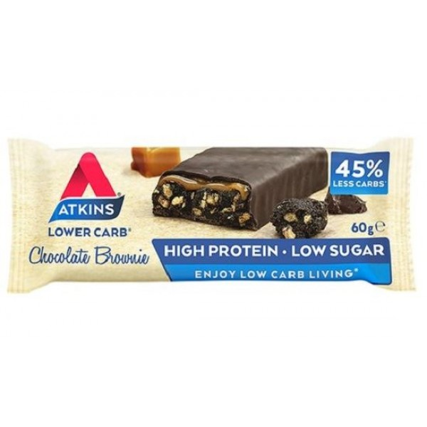 Atkins Advantage Chocolate Brownie, Μπάρα Πρωτεΐνης 60gr