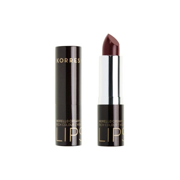 Korres Morello Creamy Lipstick No 59 Κόκκινο της Βουργουνδίας, Σταθερό-Λαμπερό Αποτέλεσμα 3,5 gr