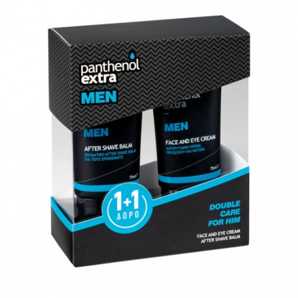 Panthenol Extra Men Promo Face & Eye Cream 75ml & Δώρο After Shave Balm 75ml