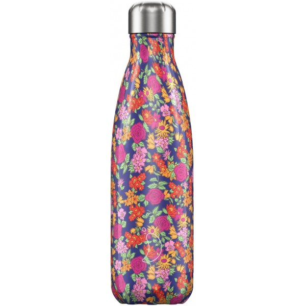 Chilly's Μπουκάλι Θερμός 500ml, Floral Edition Wild Rose