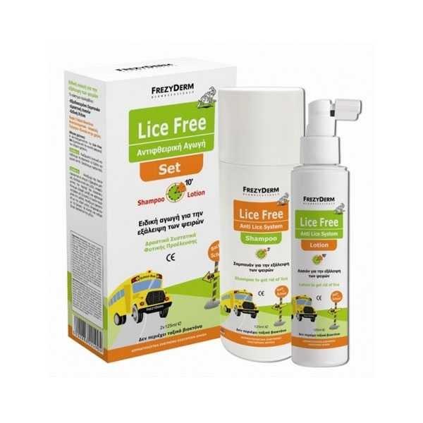 Frezyderm Lice Free Set (Shampoo + Lotion 2X125Ml)